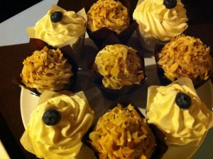 Almond Chocolate Kahlua Cupcakes & Lemon Cupcakes