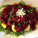 Beets with Citrus, Scallions & Arugula
