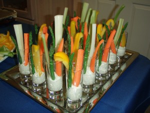 Crudite Shots with Veggie Dip