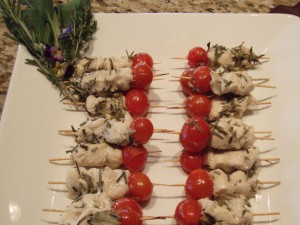Lemon Rosemary Chicken Skewers