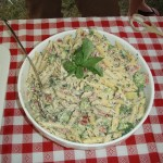 Penne & Broccoli Salad with Creamy Garlic Sauce