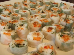 Vietnamese Rice Paper Rolls with Thai Sweet Chile Sauce
